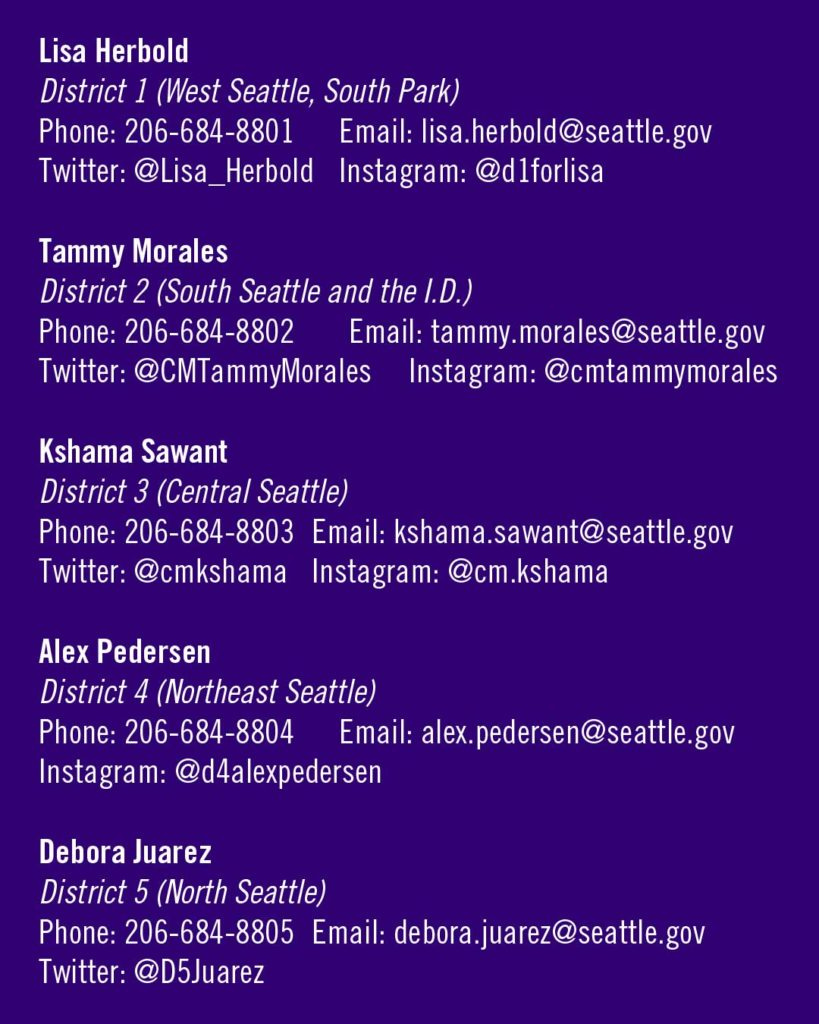 contact info for seattle council members
